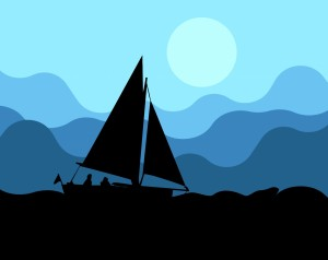 sail-boat-on-water-silhouette